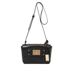 Badgley Mischka black leather crossbody bag